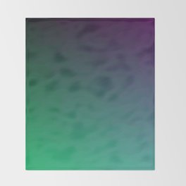 Peacock Green purple blue black ombre waves Throw Blanket