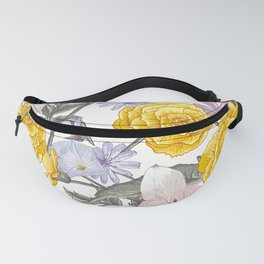 Yellow roses 8 Fanny Pack