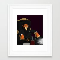 scarface Framed Art Prints featuring Scarface by Misha Libertee