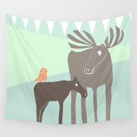 moose Wall Tapestries featuring Moose by Dream Of Forest