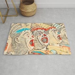 Clown Class  (muted color graphic) Rug