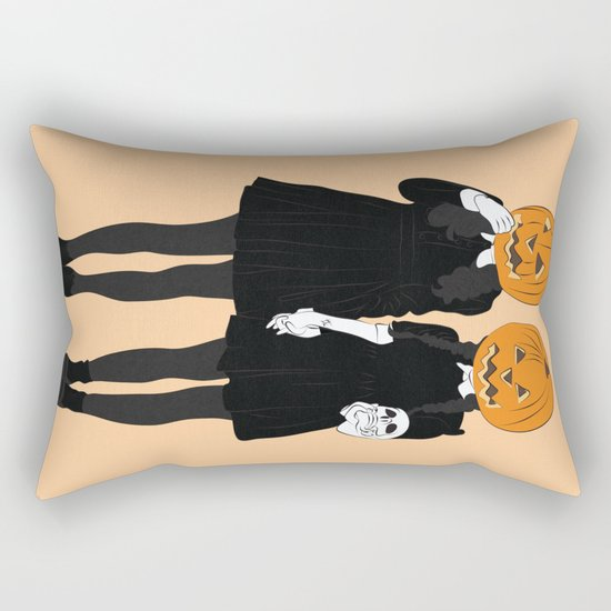 Pumpkin Heads Rectangular Pillow