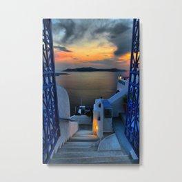 Santorini 15 Metal Print
