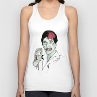 scarface Tank Tops featuring Zombie Al Pacino Scarface  by Jane Hazlewood