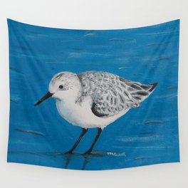 Sanderling at the Shore Wall Tapestry