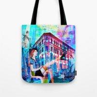 women Tote Bags featuring Women by Ganech joe