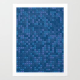 november blue geometric pattern Art Print