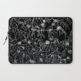 Graphic art, trees leaves, white ink Laptop Sleeve