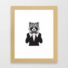 Fancy Raccoon Framed Art Print