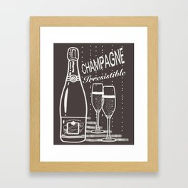Champagne irresistible cup of champagne Framed Art Print