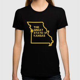 Great State of Kansas TShirt - Vintage Missouri Map Funny T-shirt