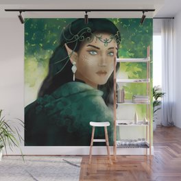 Forest Elf Girl Wall Mural