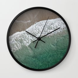 Wrightsville Beach Waves Wall Clock