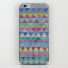 Colored Watercolor Triangles iPhone & iPod Skin