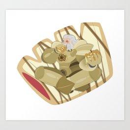 Donuts - Glazed Bear Claw with Raspberry Filling Art Print