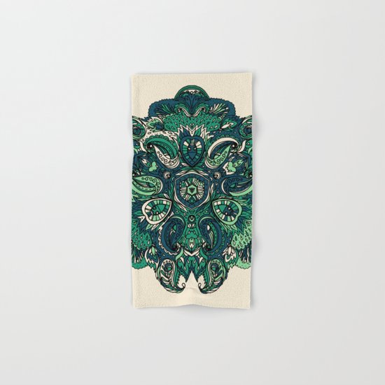 Green Indian Mandala Hand & Bath Towel
