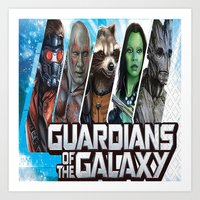 guardians of the galaxy Art Prints featuring guardians of the galaxy by store2u