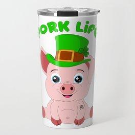 St Patricks Day Year Of The Pig Shenanigan Travel Mug