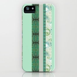 French Stripe Green/Grey iPhone Case