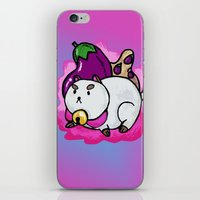 puppycat iPhone & iPod Skins featuring A Chubby Puppycat by Kristin Frenzel