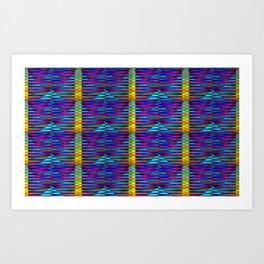 Geometrical-colorplay-pattern #2 Art Print
