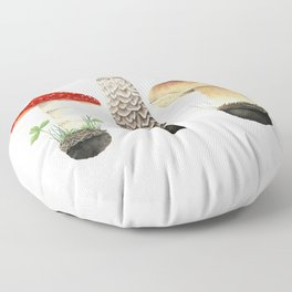 Three Mushrooms Floor Pillow