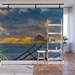 Storm Surf at Sunset Wall Mural