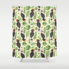 The Tropical Hornbill Shower Curtain