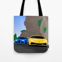 lamborghini Tote Bags featuring Lamborghini & Bugatti by Szilárd A Legjobb