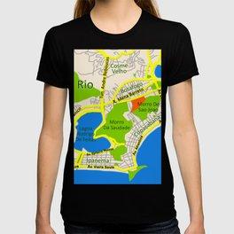 RIO map design - Brasil T-shirt