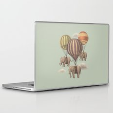Flight of the Elephants - mint option Laptop & iPad Skin