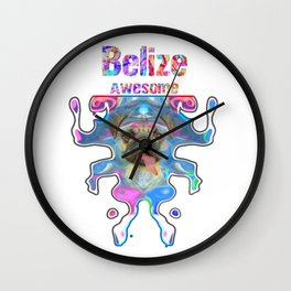 Belize Awesome Pug Gift Funny Dog Ballerina In Space Wall Clock