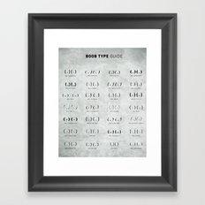 Boob Type Guide Framed Art Print