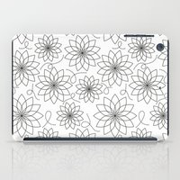 house stark iPad Cases featuring Stark Flowers by SonyaDeHart