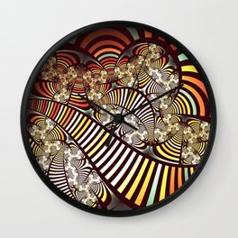 Vintage fractal 1 Wall Clock