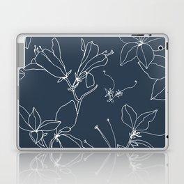 Drawings from Stonecrop Garden, Pattern in Navy Laptop & iPad Skin