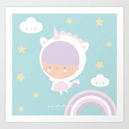 Be a unicorn Art Print