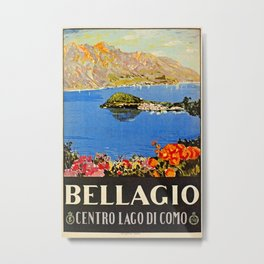 Italy Bellagio Lake Como Metal Print