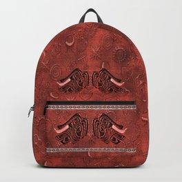 African elephant with ethnic motives V5 V Backpack Backpack