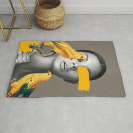Girl with Parrots Rug