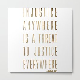 Martin Luther King Typography Quotes Metal Print
