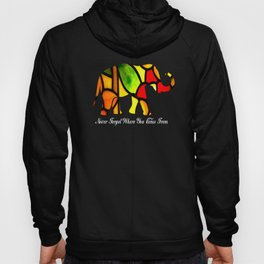 Gift for Elephant Lovers Never Forget Hoody