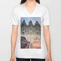 amsterdam V-neck T-shirts featuring Amsterdam by John Turck
