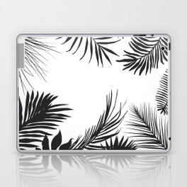Black And White Palm Leaves Laptop & iPad Skin