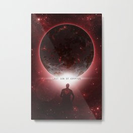 Last Son Of Krypton Metal Print