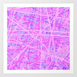 Pink Pick Up Sticks Art Print