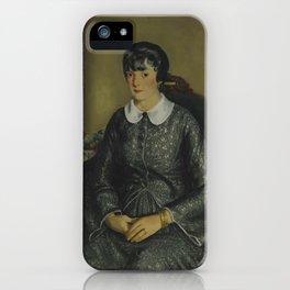 PORTRAIT OF MARY MCKINNON iPhone Case