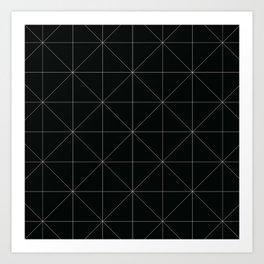 Geometric black and white Art Print