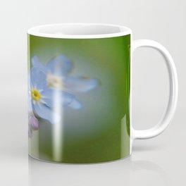 Close-up Forget Me Not - Blue Myosotis Coffee Mug