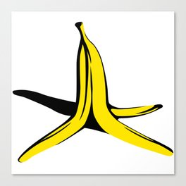 Banana's peel Canvas Print